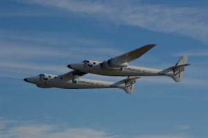 Virgin Galactic's mother-ship EVE, during a test-flight (Photo: Freddie Weston-Smith)