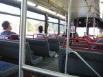 fairly empty bus