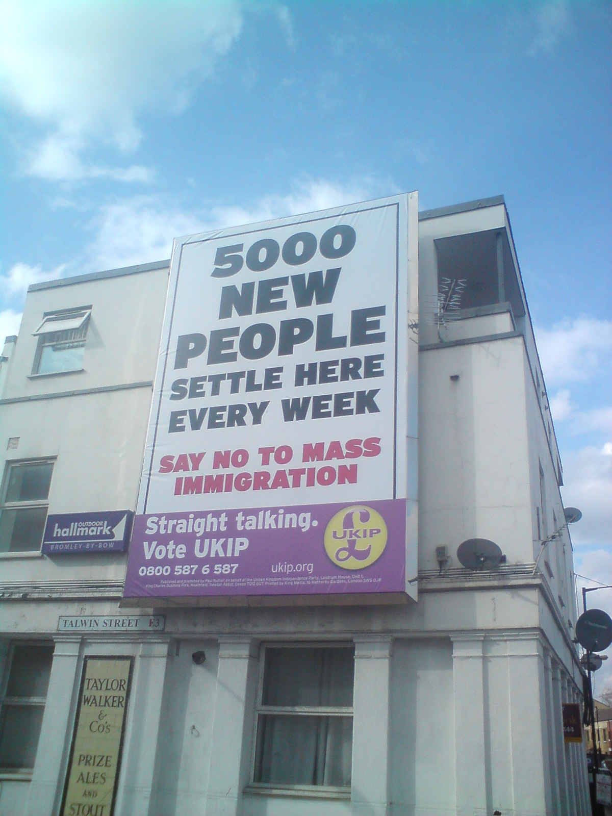 UKIP Poster, Bromley-By-Bow, East London