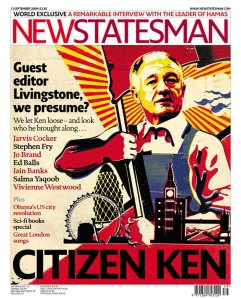 'Red' Ken Livingstone, Former London Mayor, on the cover of the New Statesman