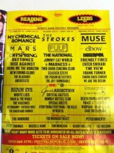 Reading Festival 2011 line-up