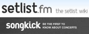 setlistfm/songkick logos