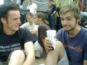 Me and Max at Reading 2006